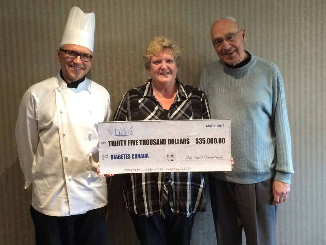 (Left to right) Chef Todd Pylypiw, Patty Crawford (Chair) and Bill Brady (Chair Emeritus).